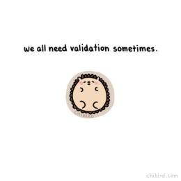 we all need validation sometimes